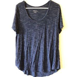 Comfy Soft  Merona Blue T-Shirt Blouse Tee Top L